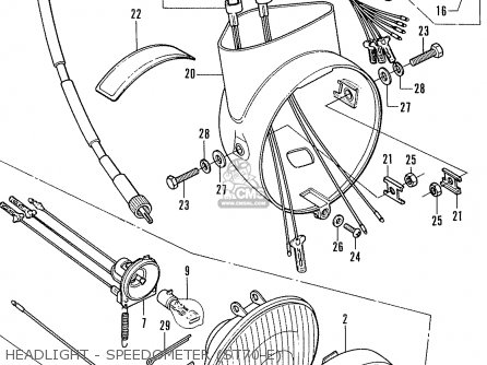 honda st70 dax england parts list partsmanual partsfiche. Black Bedroom Furniture Sets. Home Design Ideas