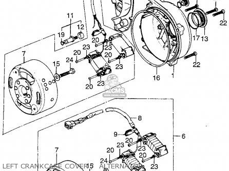 Honda TL125 TRIALS 1974 K1 USA parts lists and schematicsCmsnl.com