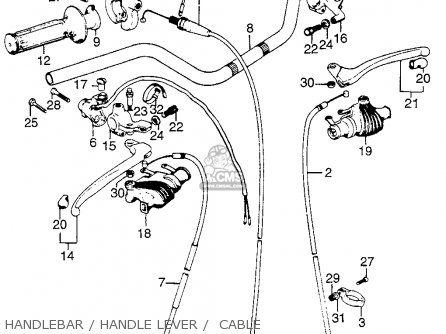 honda tl125 trials k0 1973 usa parts list partsmanual. Black Bedroom Furniture Sets. Home Design Ideas