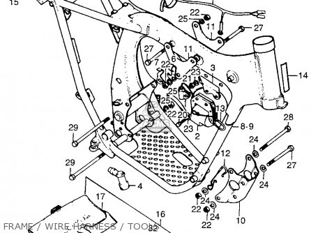 honda tl 125 wiring diagram honda tl125 trials k0 1973 usa parts list partsmanual ... #9