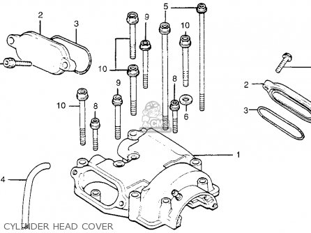 Honda Tl250 Trials 1975 K0 Usa Cylinder Head Cover