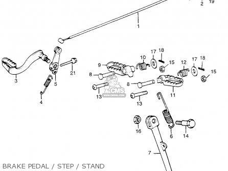 Honda Tl250 Trials 1975 Tl250k0 Usa Brake Pedal   Step   Stand