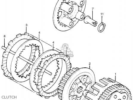 Honda Tl250 Trials 1975 Tl250k0 Usa Clutch