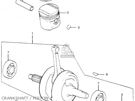 Honda Tl250 Trials 1975 Tl250k0 Usa Crankshaft   Piston