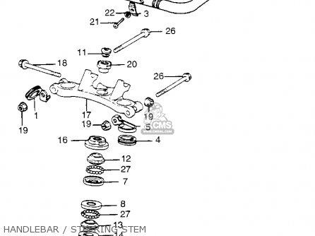 Honda Tl250 Trials 1975 Tl250k0 Usa Handlebar   Steering Stem