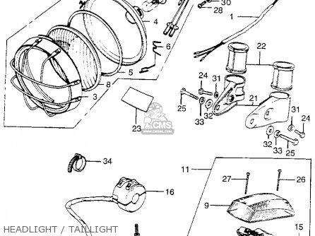 Honda Tl250 Trials 1975 Tl250k0 Usa Headlight   Taillight