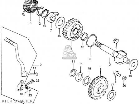 Honda Tl250 Trials 1975 Tl250k0 Usa Kick Starter