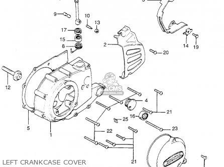Honda Tl250 Trials 1975 Tl250k0 Usa Left Crankcase Cover