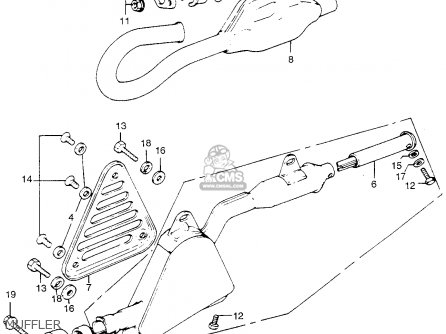 Honda Tl250 Trials 1975 Tl250k0 Usa Muffler