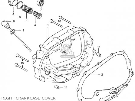 Honda Tl250 Trials 1975 Tl250k0 Usa Right Crankcase Cover