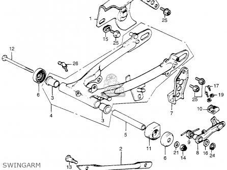 Honda Tl250 Trials 1975 Tl250k0 Usa Swingarm