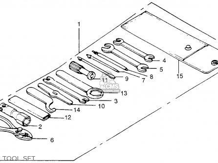 Honda Tl250 Trials 1975 Tl250k0 Usa Tool Set