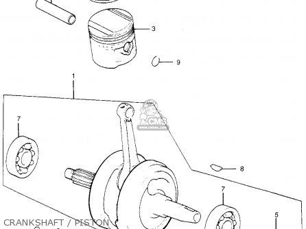 Honda Tl250 Trials K0 1975 Usa Crankshaft   Piston