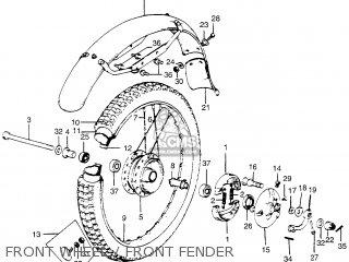 Honda Tl250 Trials K0 1975 Usa Front Wheel   Front Fender
