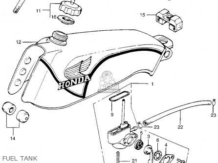 Honda Tl250 Trials K0 1975 Usa Fuel Tank