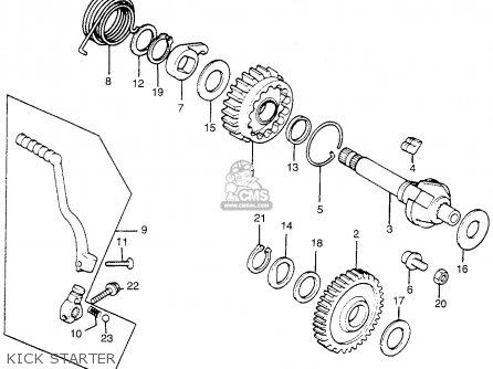 Honda Tl250 Trials K0 1975 Usa Kick Starter