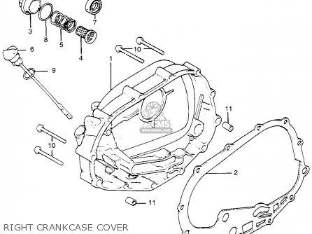 Honda Tl250 Trials K0 1975 Usa Right Crankcase Cover