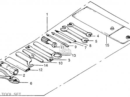 Honda Tl250 Trials K0 1975 Usa Tool Set