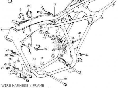 Honda Tl250 Trials K0 1975 Usa Wire Harness   Frame