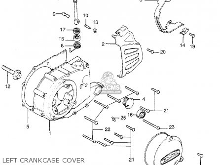 Honda Tl250 Trials K0 Usa Left Crankcase Cover