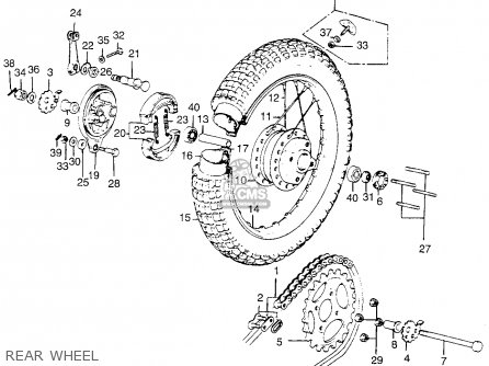 Honda Tl250 Trials K0 Usa Rear Wheel