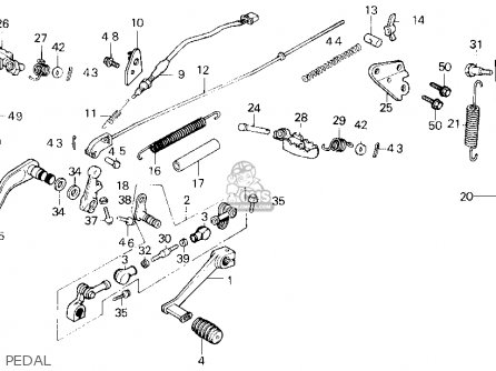 honda tlr200 reflex 1986 g usa california parts lists and schematics honda tlr200 reflex 1986 g usa california pedal