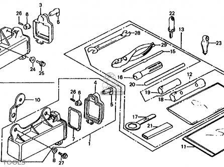 honda trx125 fourtrax 125 1985 f usa parts lists and schematics  tools
