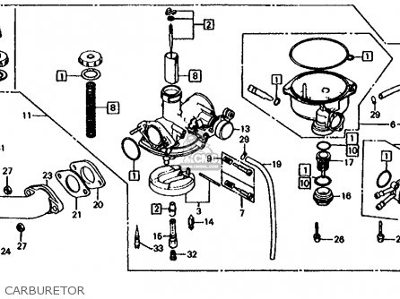 honda trx125 fourtrax 125 1985 usa parts list partsmanual