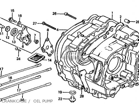 honda trx125 fourtrax 125 1986 g usa parts lists and schematics Honda 300 FourTrax Wiring-Diagram crankcase oil pump