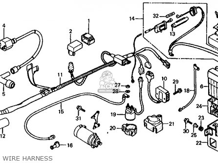 Honda Trx125 Fourtrax 125 1986 g Usa Wire Harness