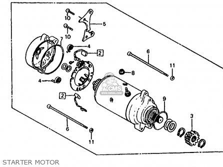 Honda Trx125 Fourtrax 125 1986 Usa Starter Motor