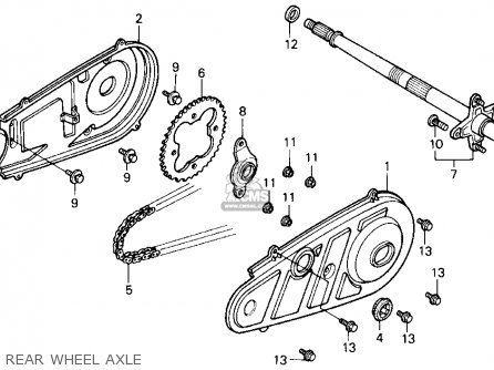 Honda Trx Fourtrax Usa Rear Wheel Axle Mediumhu C on Kandi 110cc Go Kart Engine Wiring Diagram