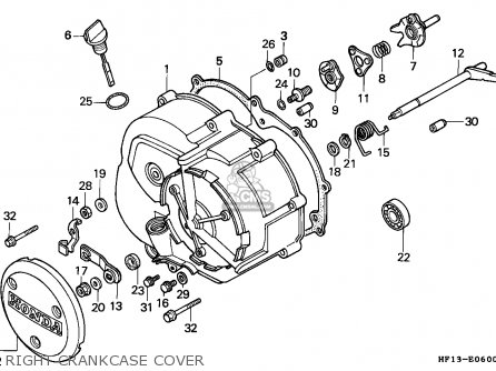 Honda Trx200 Fourtrax 1990 Canada   Cmf Right Crankcase Cover