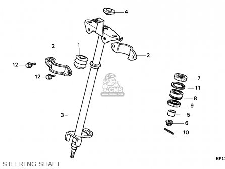 Honda Trx200 Fourtrax 1990 Canada   Cmf Steering Shaft