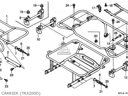 Honda Trx300ex Fourtrax 1994 Usa Except California Parts Lists