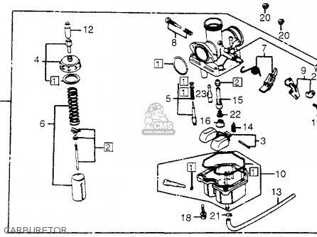 Honda Trx200 Fourtrax 200 1984 e Usa Carburetor