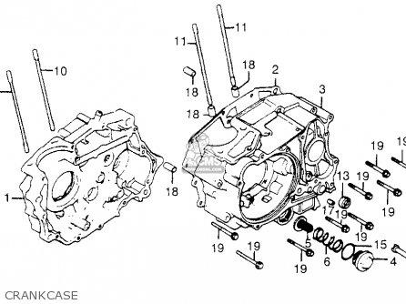 Honda Trx200 Fourtrax 200 1984 e Usa Crankcase