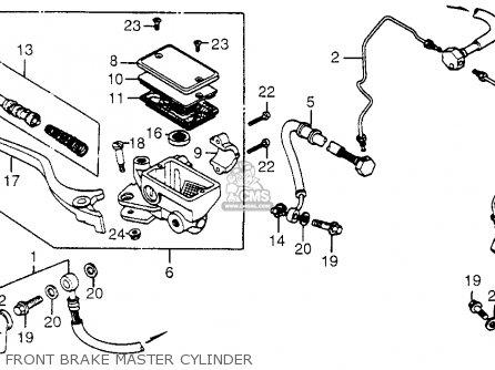 Honda Trx200 Fourtrax 200 1984 e Usa Front Brake Master Cylinder