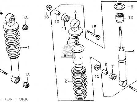 Honda Trx200 Fourtrax 200 1984 e Usa Front Fork