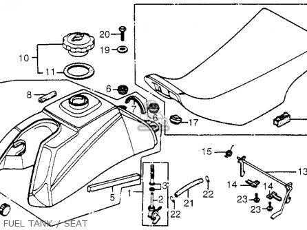 Honda Trx200 Fourtrax 200 1984 E Usa Parts Lists And Schematics