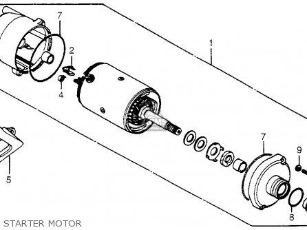 Honda Trx200 Fourtrax 200 1984 e Usa Starter Motor