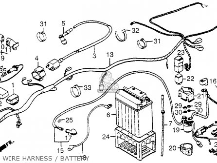 honda trx200 fourtrax 200 1984 (e) usa parts lists and schematics 1990 Honda 300 Wiring Diagram honda trx200 fourtrax 200 1984 (e) usa wire harness battery