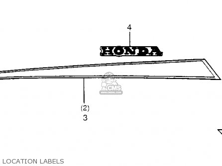 Honda Trx200 Fourtrax 200 1984 Usa Location Labels