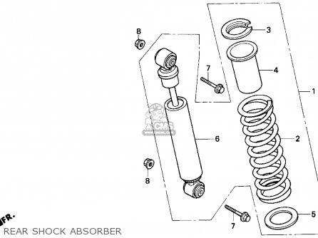 Honda Trx200d 1992 Usa Rear Shock Absorber