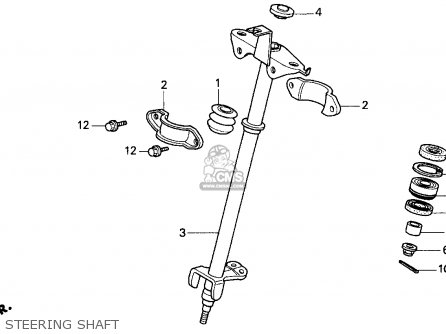 Honda Trx200d 1992 Usa Steering Shaft