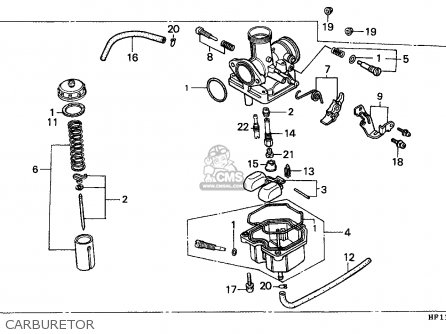 Honda Trx200d Fourtrax 1991 Canada Carburetor
