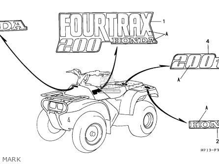 Honda Trx200d Fourtrax 1991 Canada Mark