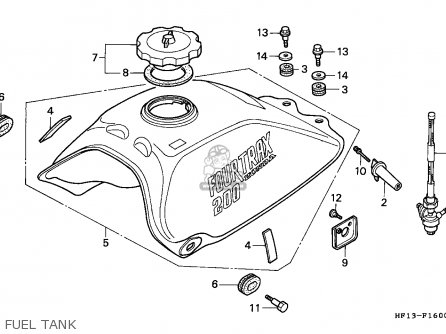 1996 Honda Fourtrax Carburetor Schematics on 2003 honda 450 wiring diagram