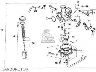 honda trx200d fourtrax 1997  v  usa type 2 parts list