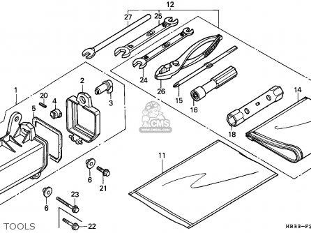 Honda trx200sx fourtrax 1987 parts lists